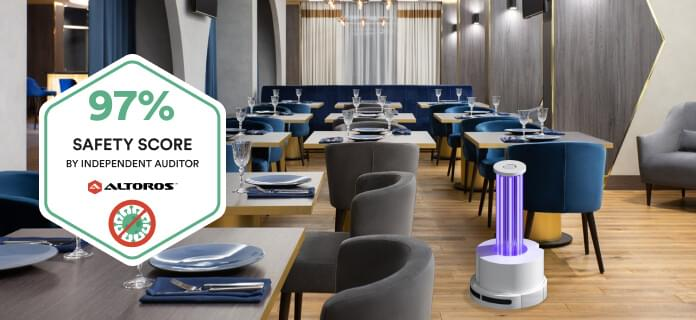 UV Disinfection Robot for Cafes and Restaurants