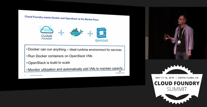 Comcast Use Case: Cloud Foundry Meets Docker and Openstack at the marketplace