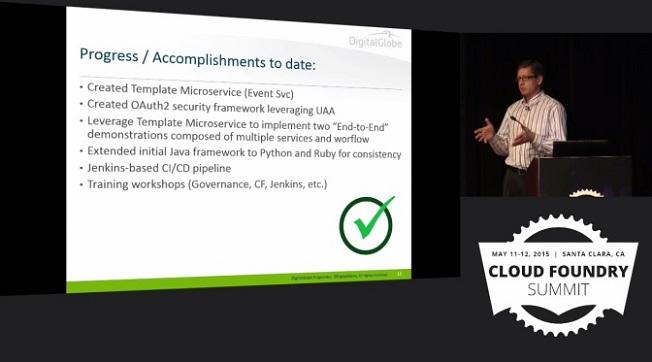 DigitalGlobe Use Case: Technical accomplishments with Cloud Foundry