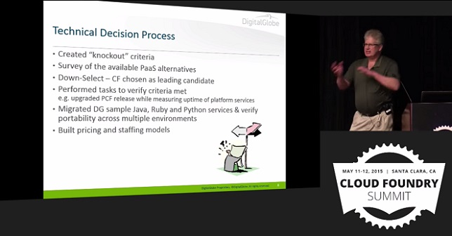 DigitalGlobe Use Case: Technical decision process with Cloud Foundry