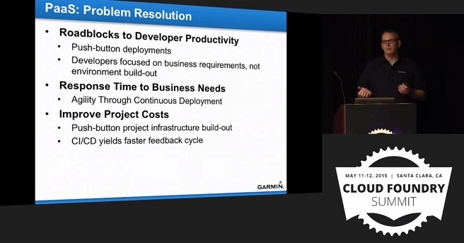 Garmin use case for Cloud Foundry: PaaS problem resolution