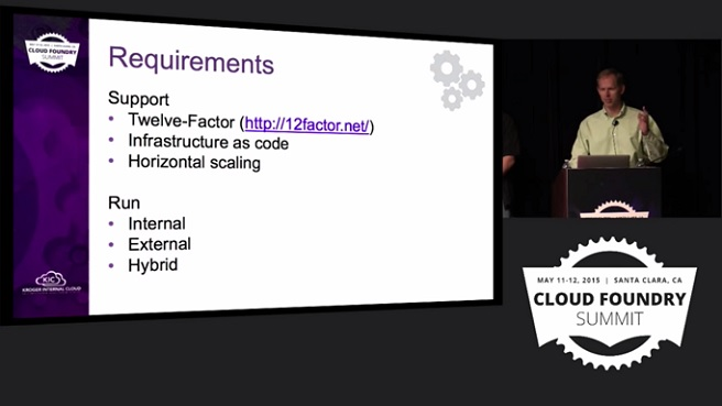 Kroger Use Case for Cloud Foundry: Requirements