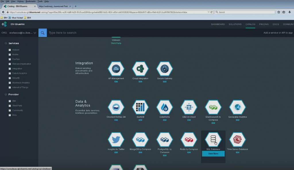 ibm-bluemix-database-services