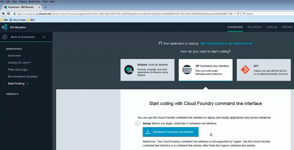 Demo: Building Java Apps with Bluemix and DB2 | Altoros