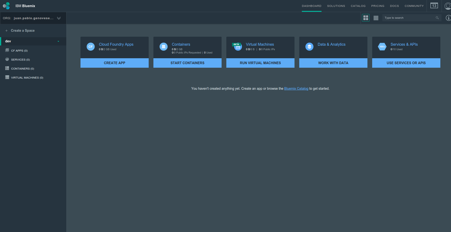 ibm-bluemix-console-dashboard