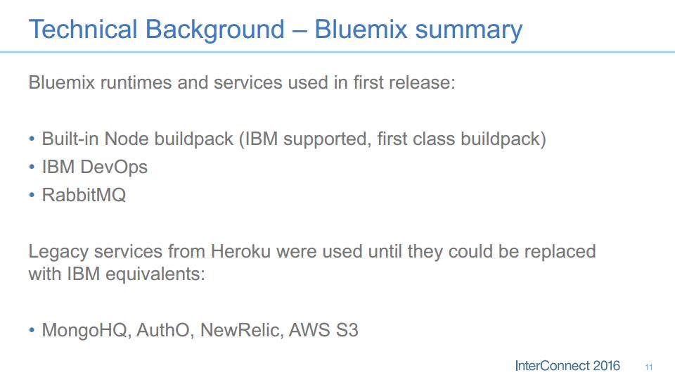 spigit heroku ibm interconnect bluemix mean summary