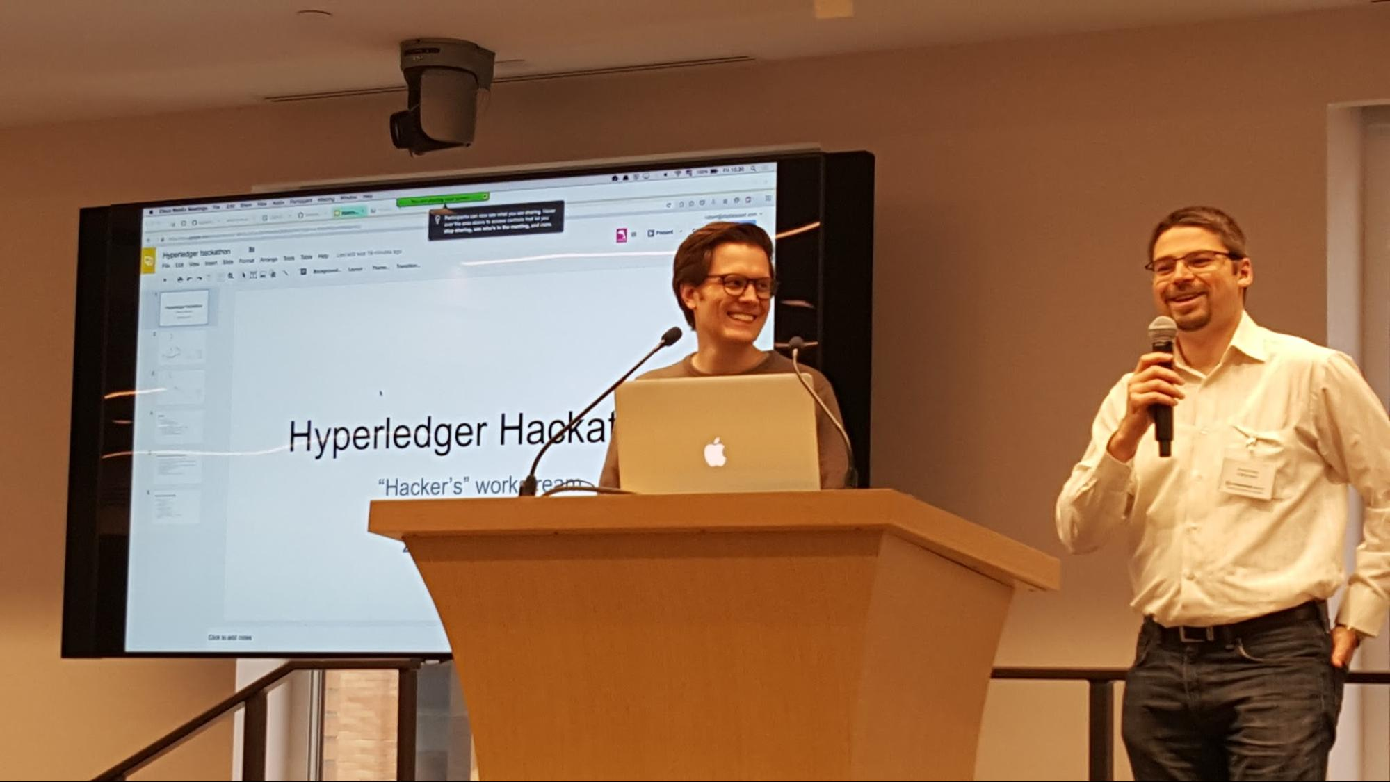 Robert Fajta, DAH (right) and Sheehan Anderson, IBM (left) introduce results of the integration