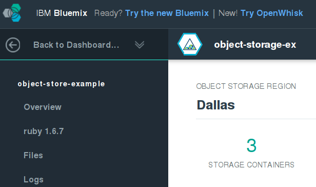 Uploading Files to IBM Bluemix Object Storage: A Sample App