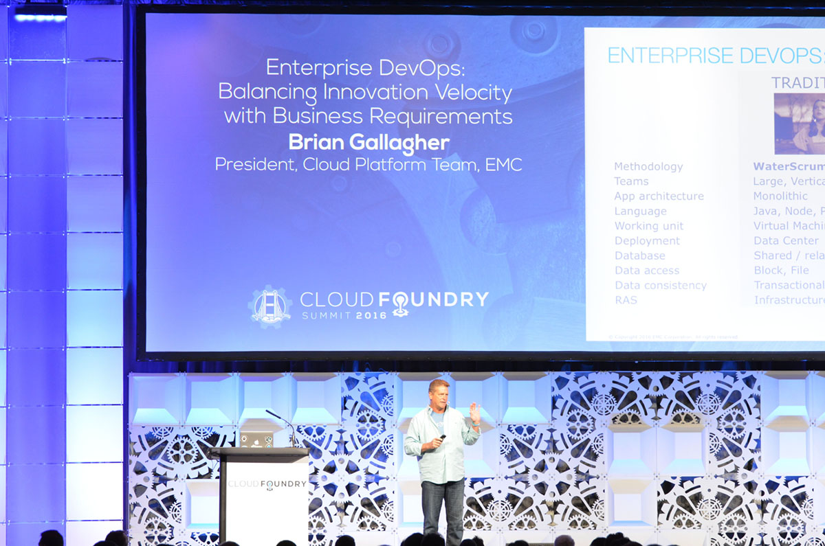 Cloud Foundry Summit 2016 Keynote Brian Gallagher CF