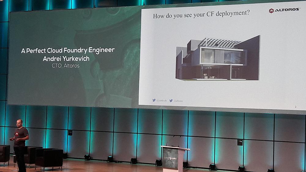 cfsummit cloud foundry summit europe Keynote Andrei Yurkevich deployment