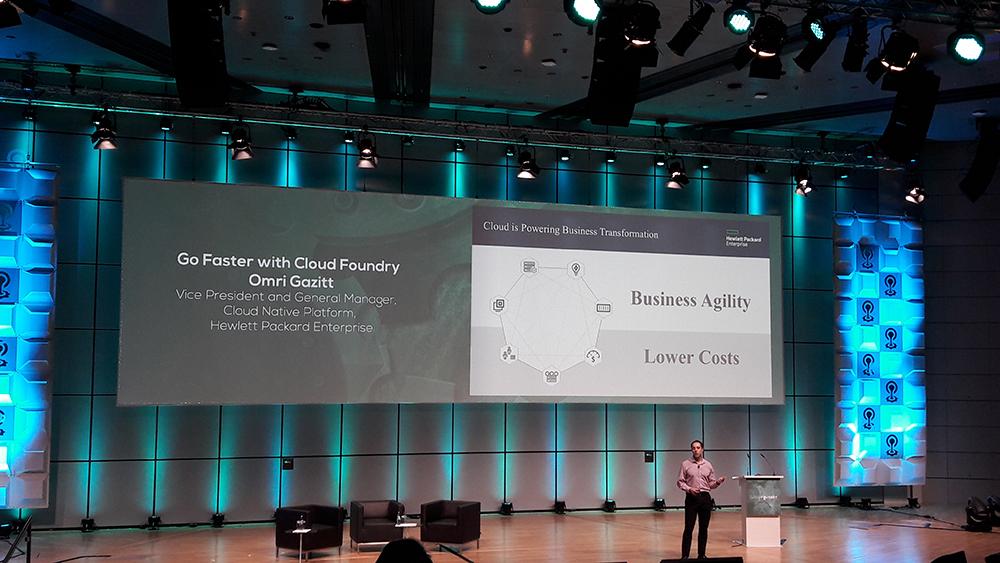 cfsummit cloud foundry summit europe Keynote HPE Omri Gazitt