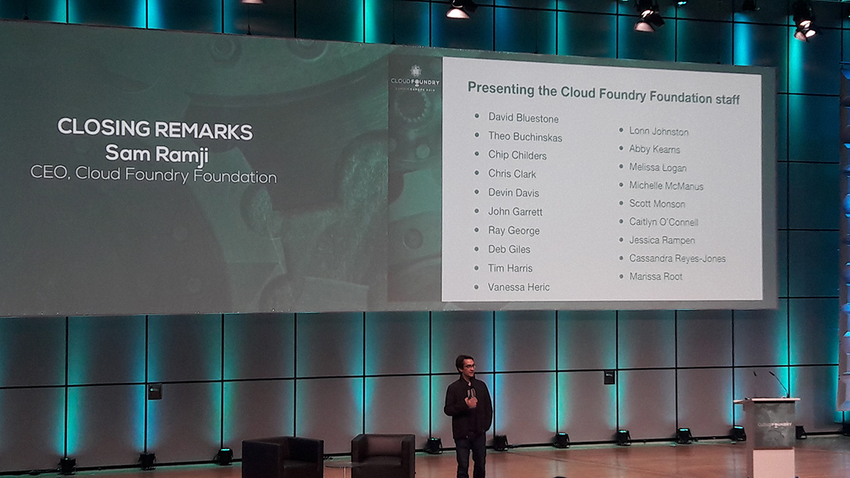 cloud foundry summit europe 2016 Sam Ramji foundation
