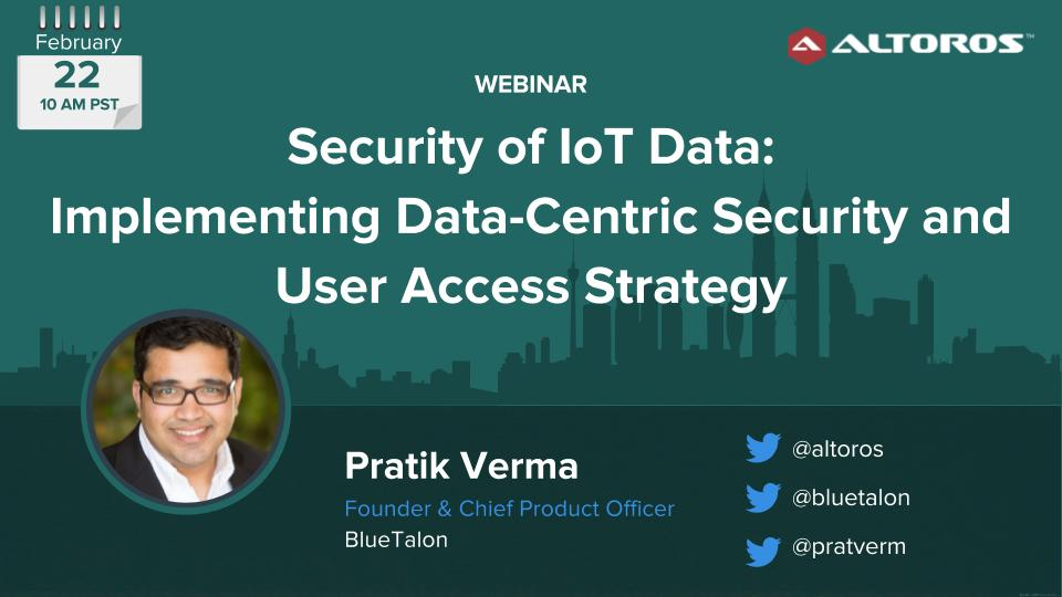 Security of IoT Data Feb22