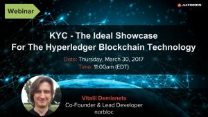 Hyperledger webinar KYC