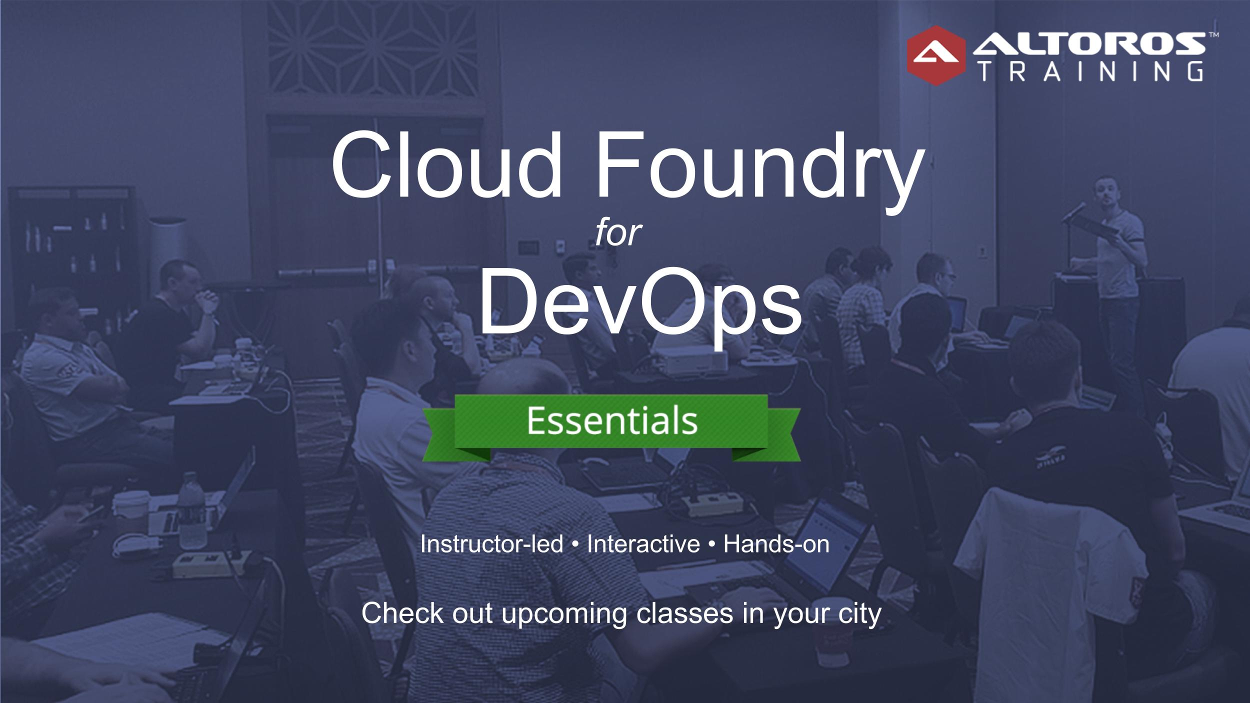 СF for DevOps training