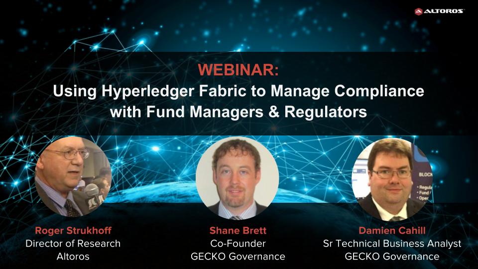 Webinar- Using Hyperledger for RegTech Compliance, Apr 20