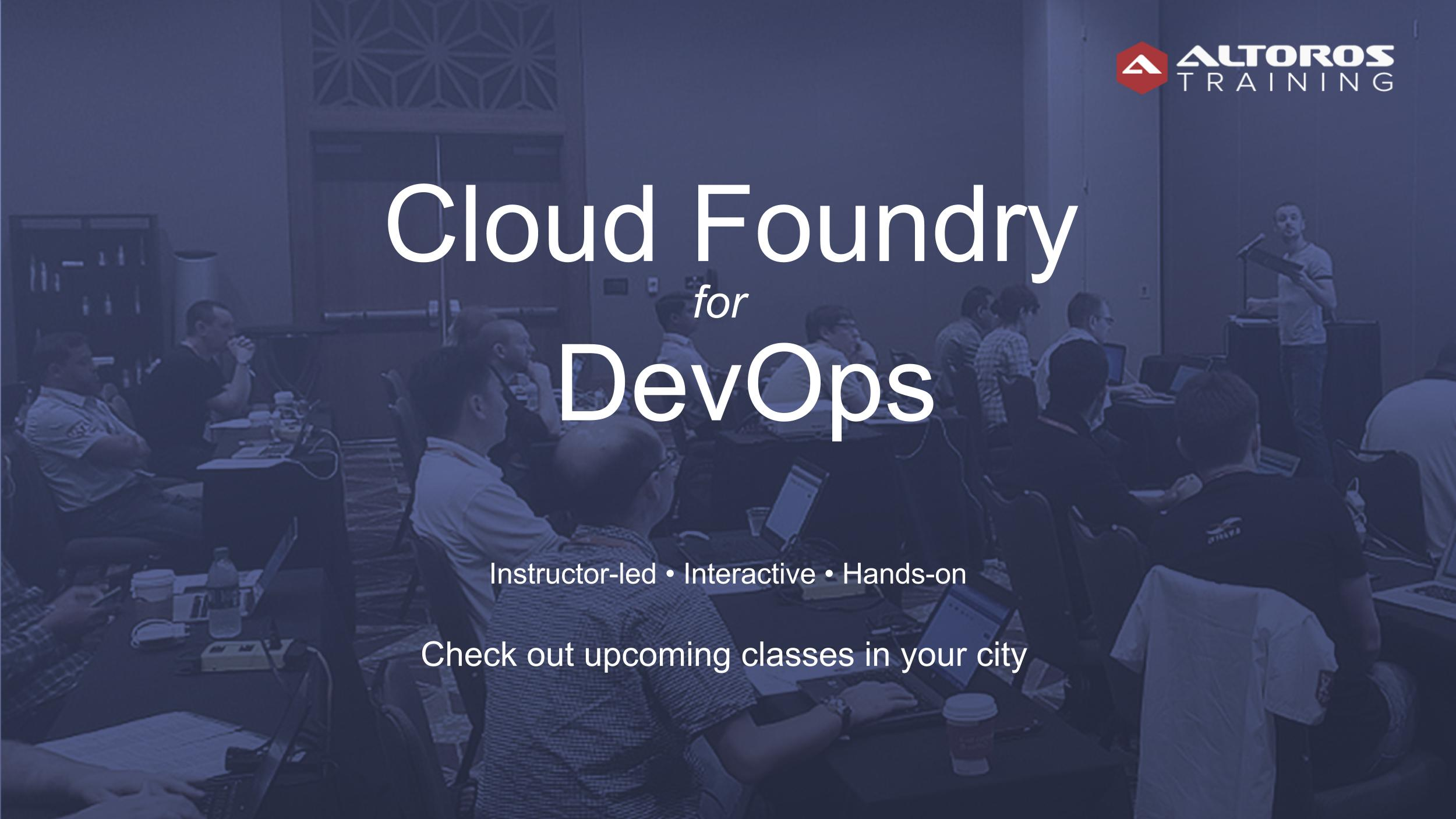 devops cloud foundry