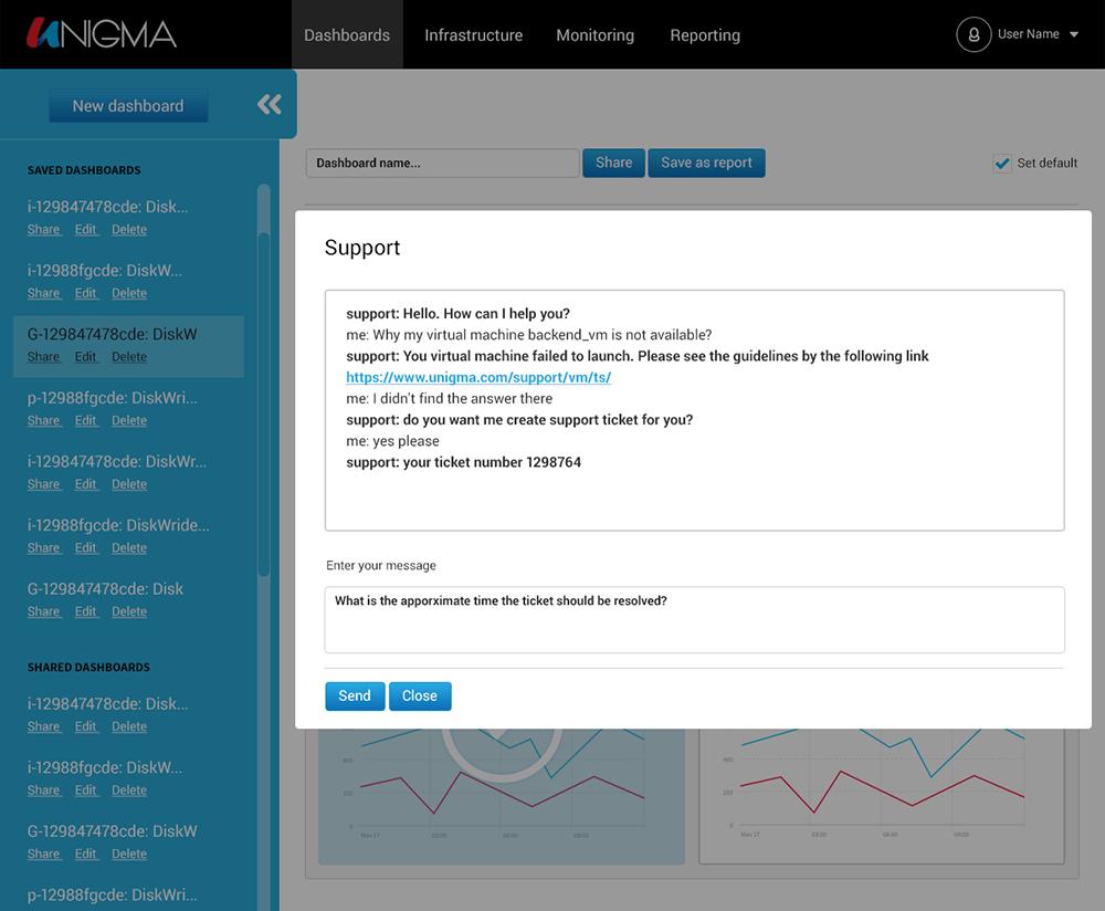 unigma-support-chatbot-ibm-watson-v17