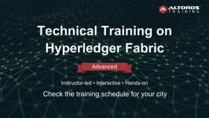 Training Hyperledger Fabric ADVANCED