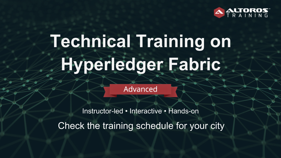 Training Hyperledger Fabric ADVANCED