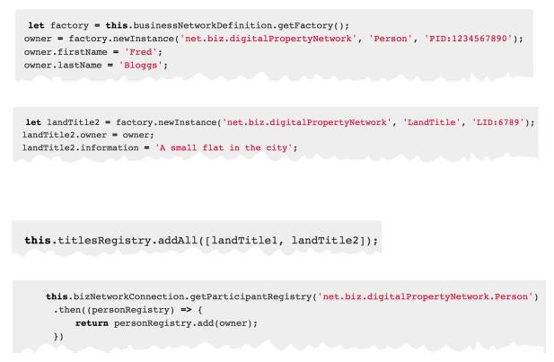IBM Blockchain Hyperledger Fabric Composer API