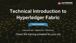 Training Hyperledger Fabric INTERMEDIATE