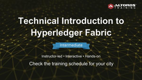 Training Hyperledger Fabric INTERMEDIATE
