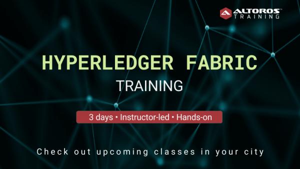 Hyperledger Fabric training Toronto, NYC