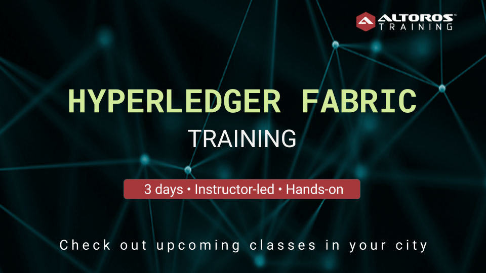 Hyperledger Fabric training Toronto, NYC