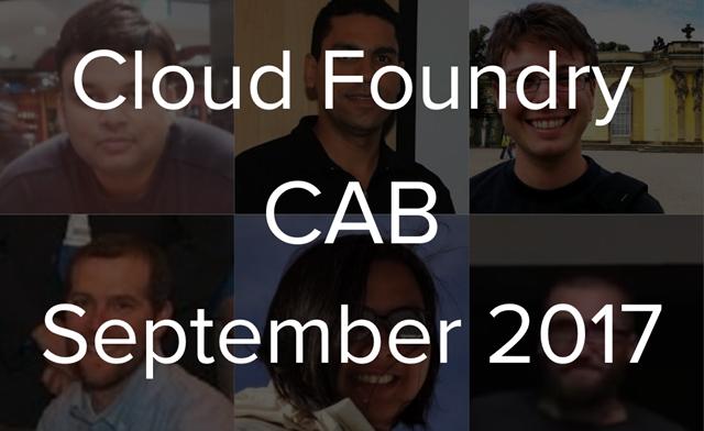 Cloud Foundry CAB call September 2017 v2