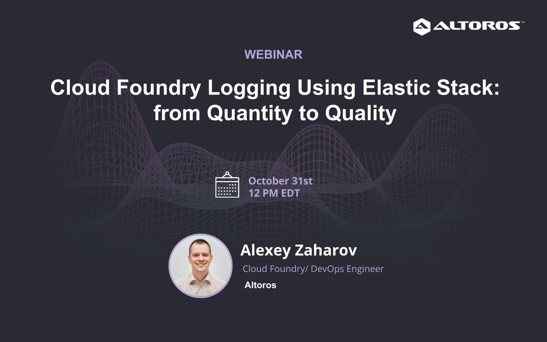 Cloud Fundry webinar