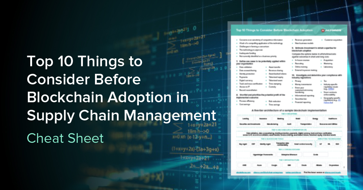 Technology Management Image: Top 10 Things To Consider Before Blockchain Adoption In