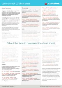 Concourse Fly CLI Cheat Sheet | Altoros