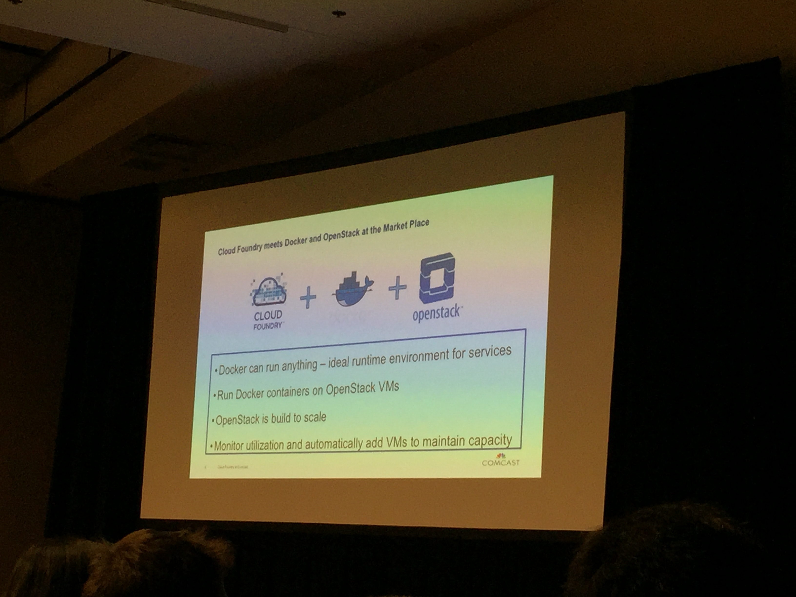 Cloud Foundry meets Docker and OpenStack at the Market Place