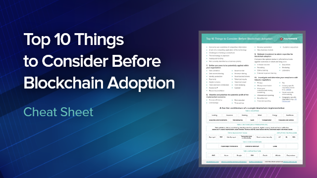 Top 10 Things to Blockchain Adoption