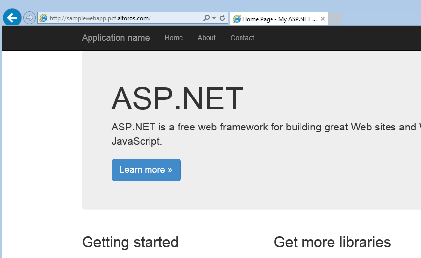 .NET app on Pivotal Cloud Foundry