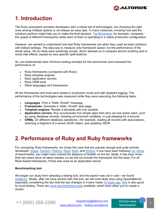 Performance Comparison of Ruby Frameworks, App Servers, Template ...